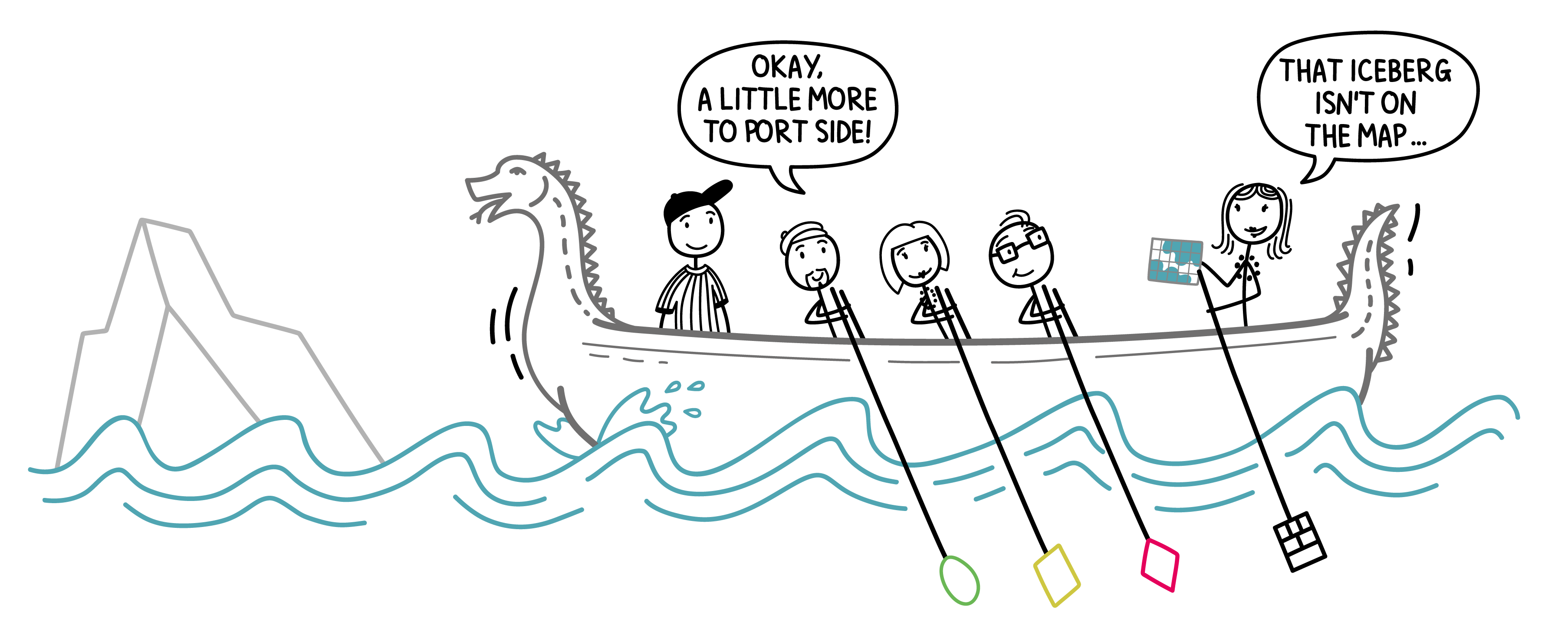 Scrum Teams are like sailors traveling uncharted seas. Unexpected things might happen...
