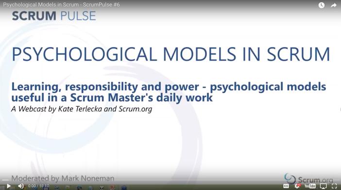 Psychological Models of Scrum