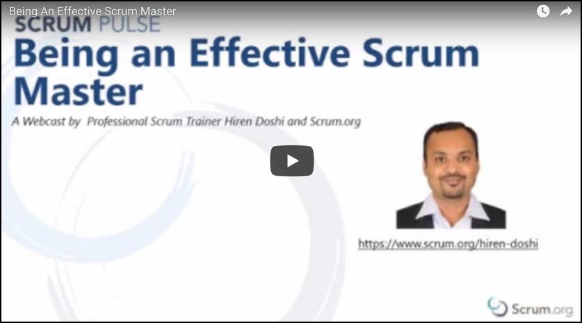 Being an effective Scrum Master