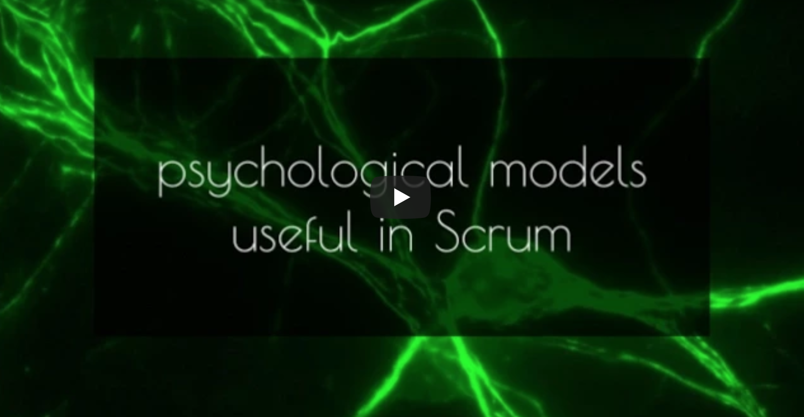Psychological Models in Scrum