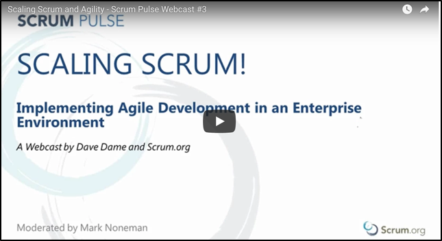 Scaling Scrum and Agility