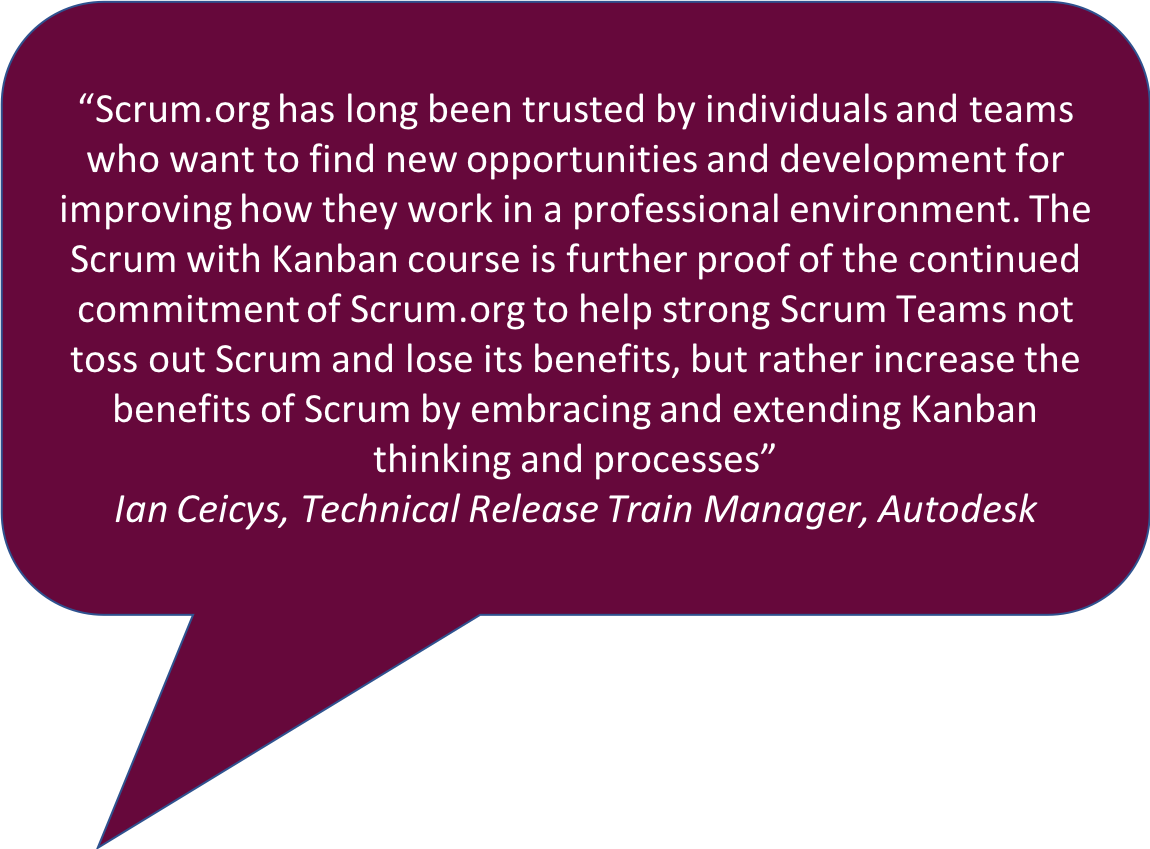 Scrum with Kanban Class Quote
