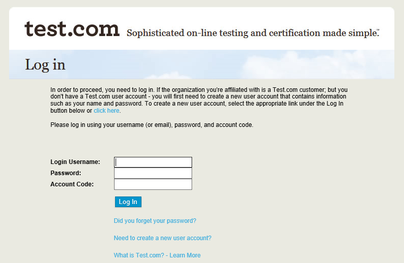 Test.com Login