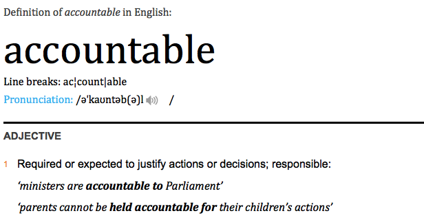 """accountable"""