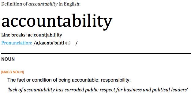 """accountability"""