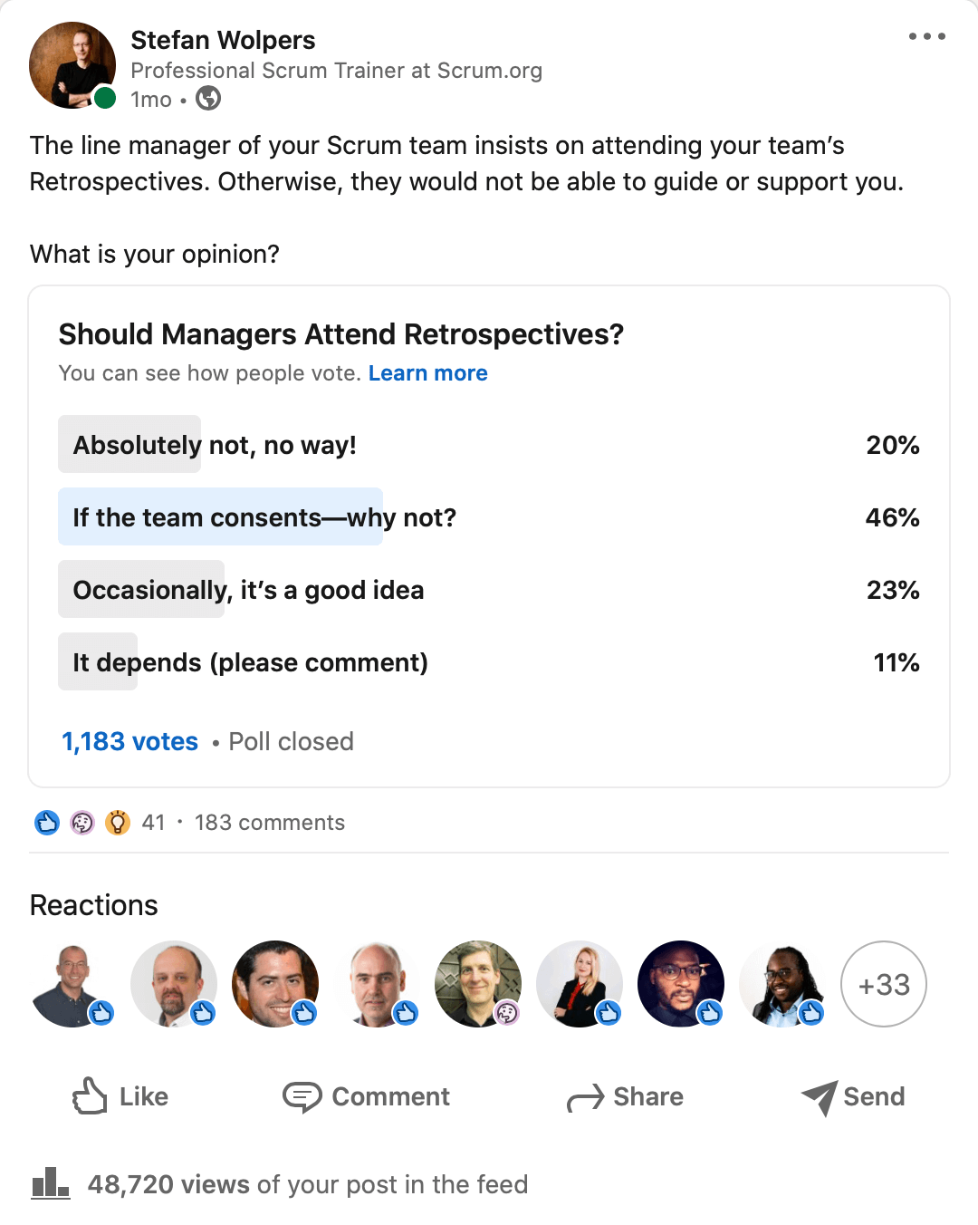 Managers attending Retrospectives?