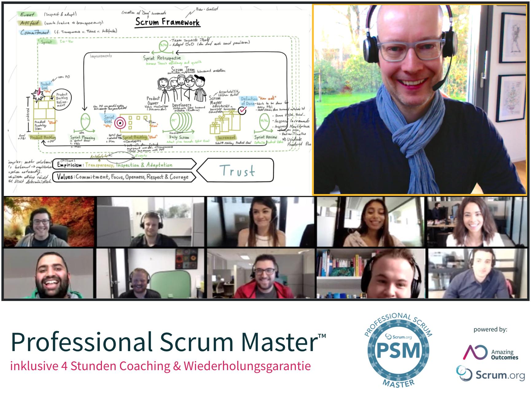 Professional Scrum Master training
