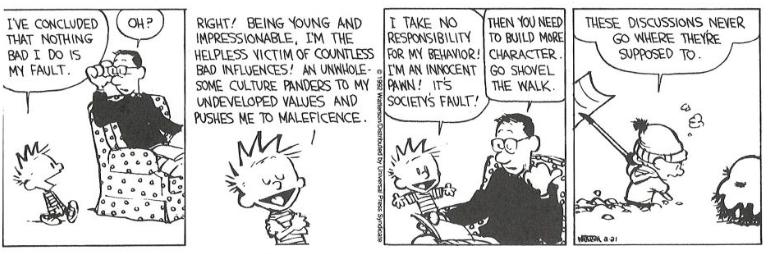 Calvin Personal Responsibility