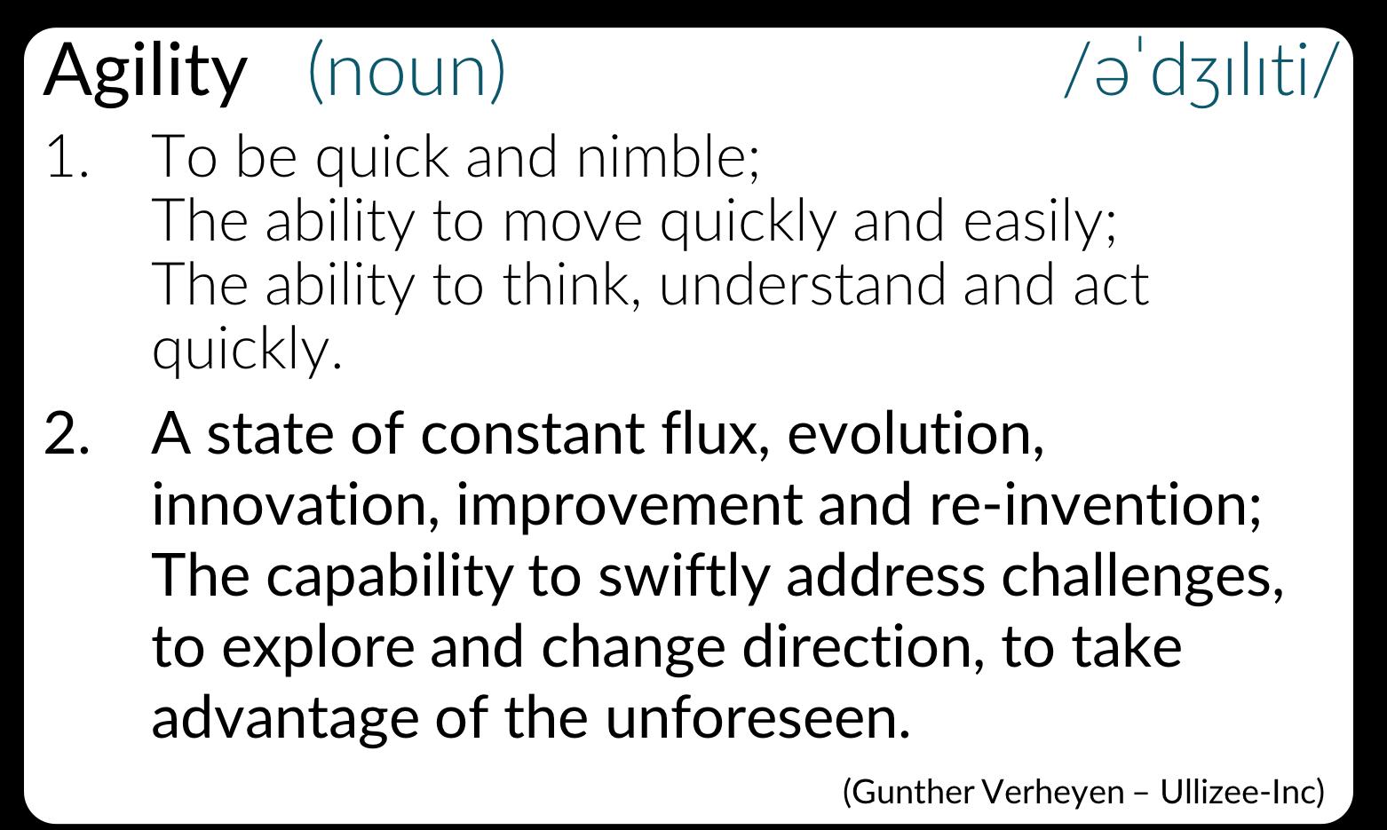Agility (Definition)