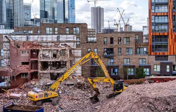 Demolishing buildings