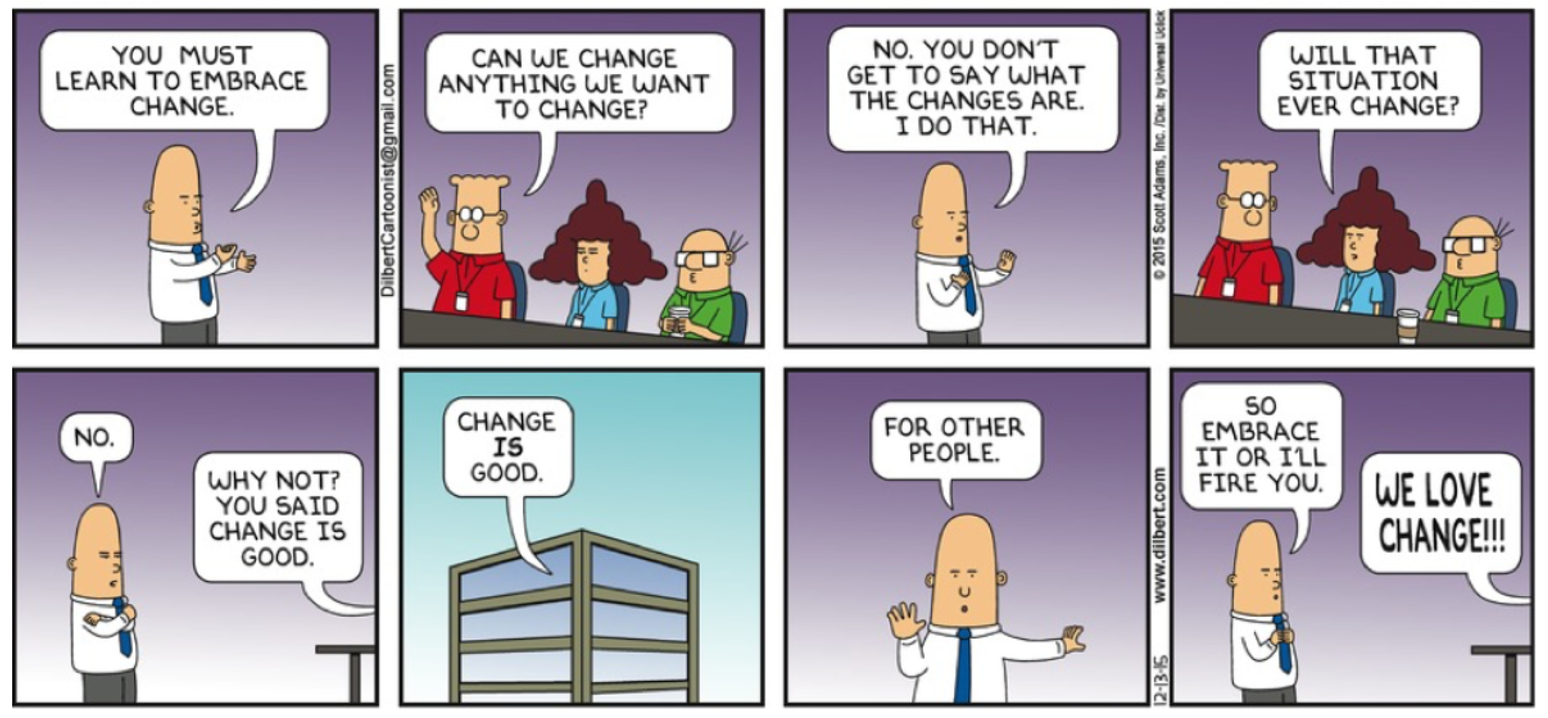 Dilbert Leadership Change