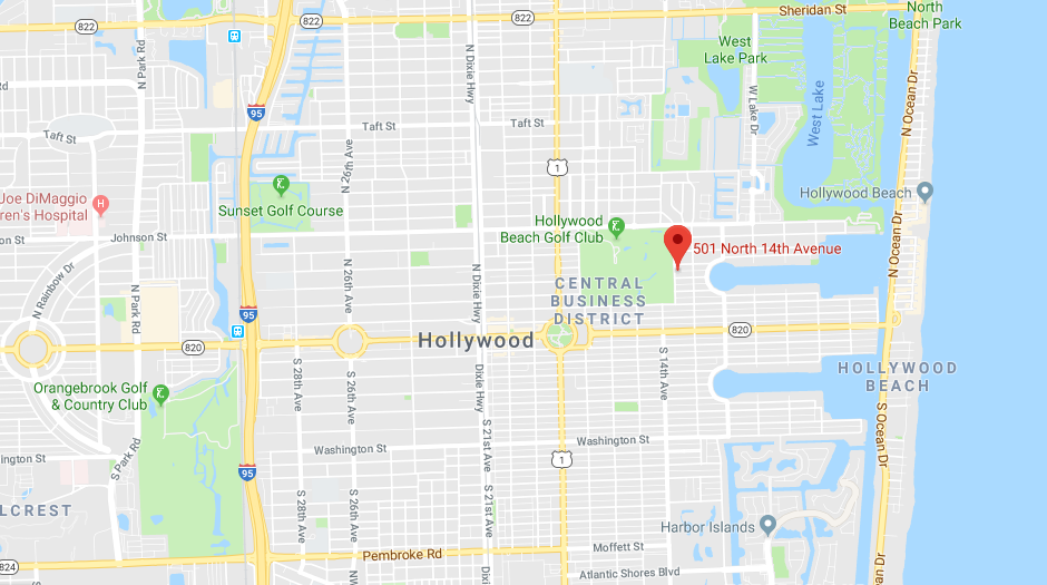 Map of Hollywood Women's Club Location