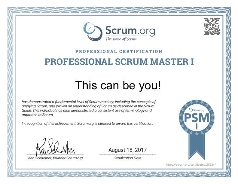 psm1 certificate