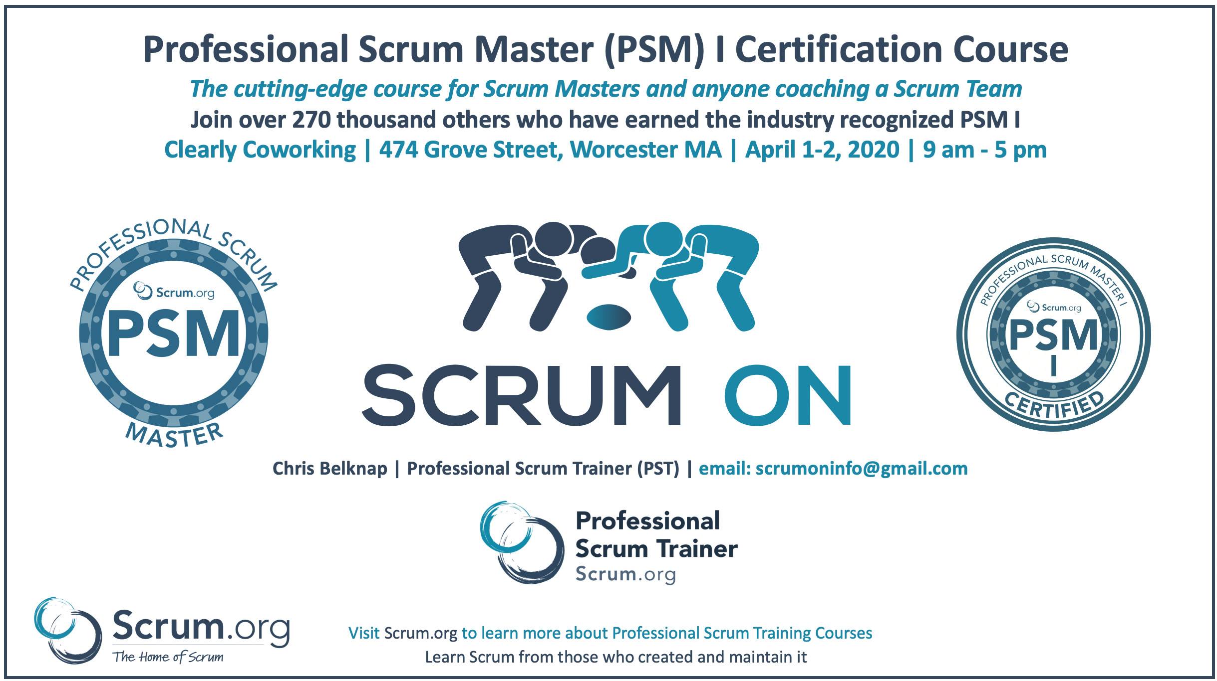 Professional Scrum Master PSM I Worcester MA