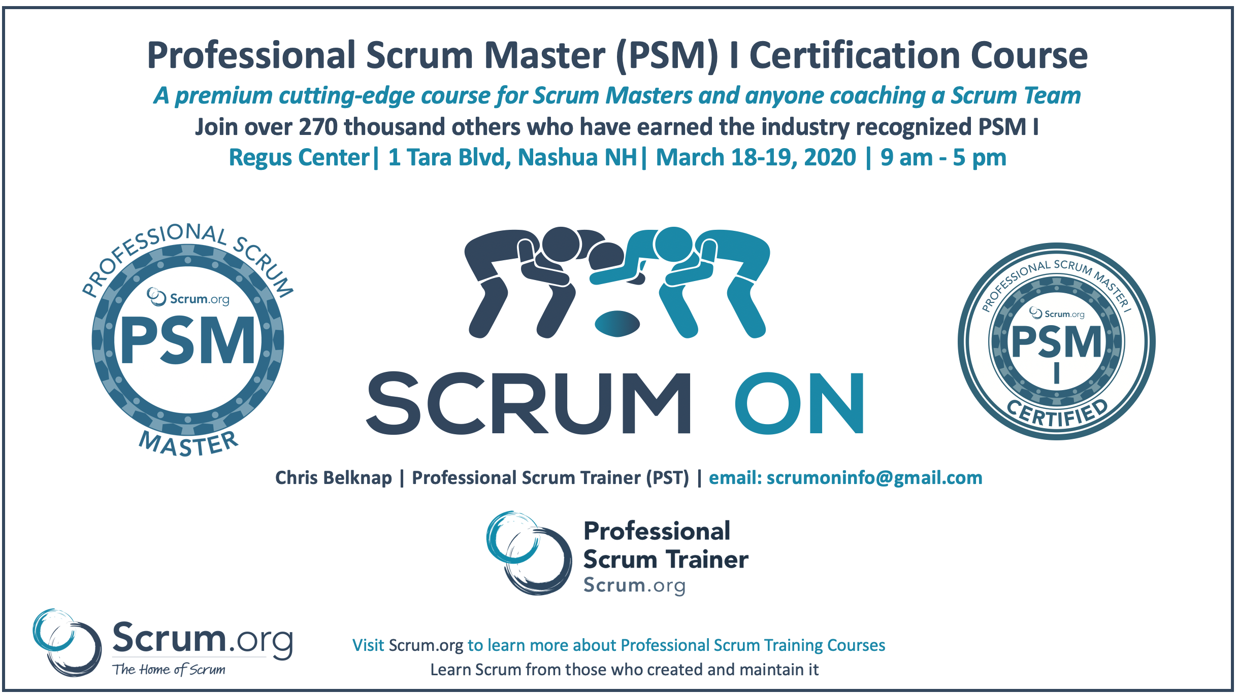 Nashua NH Professional Scrum Master PSM Training Course with PSM Certification