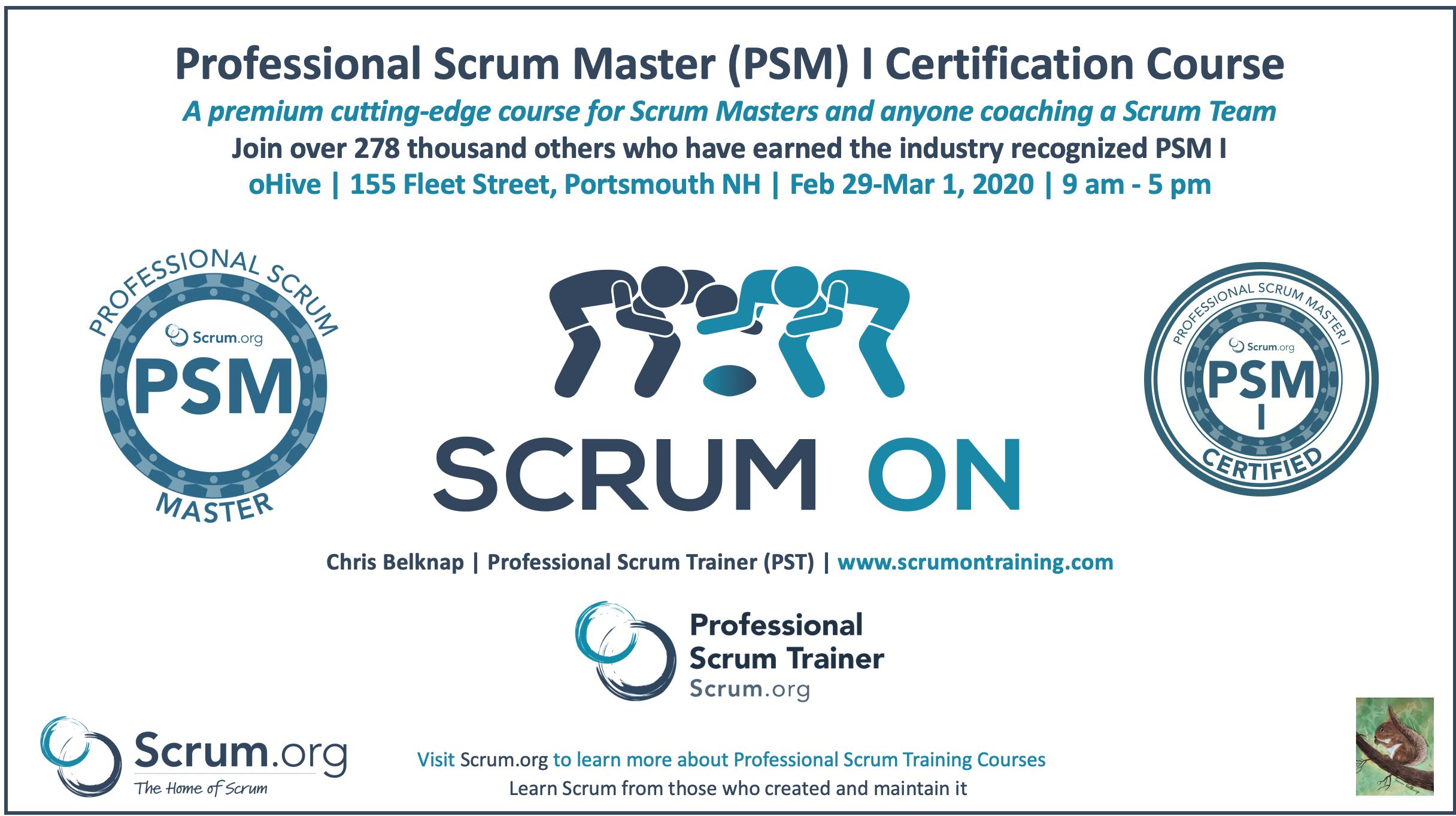 Portsmouth NH Professional Scrum Master PSM I Training