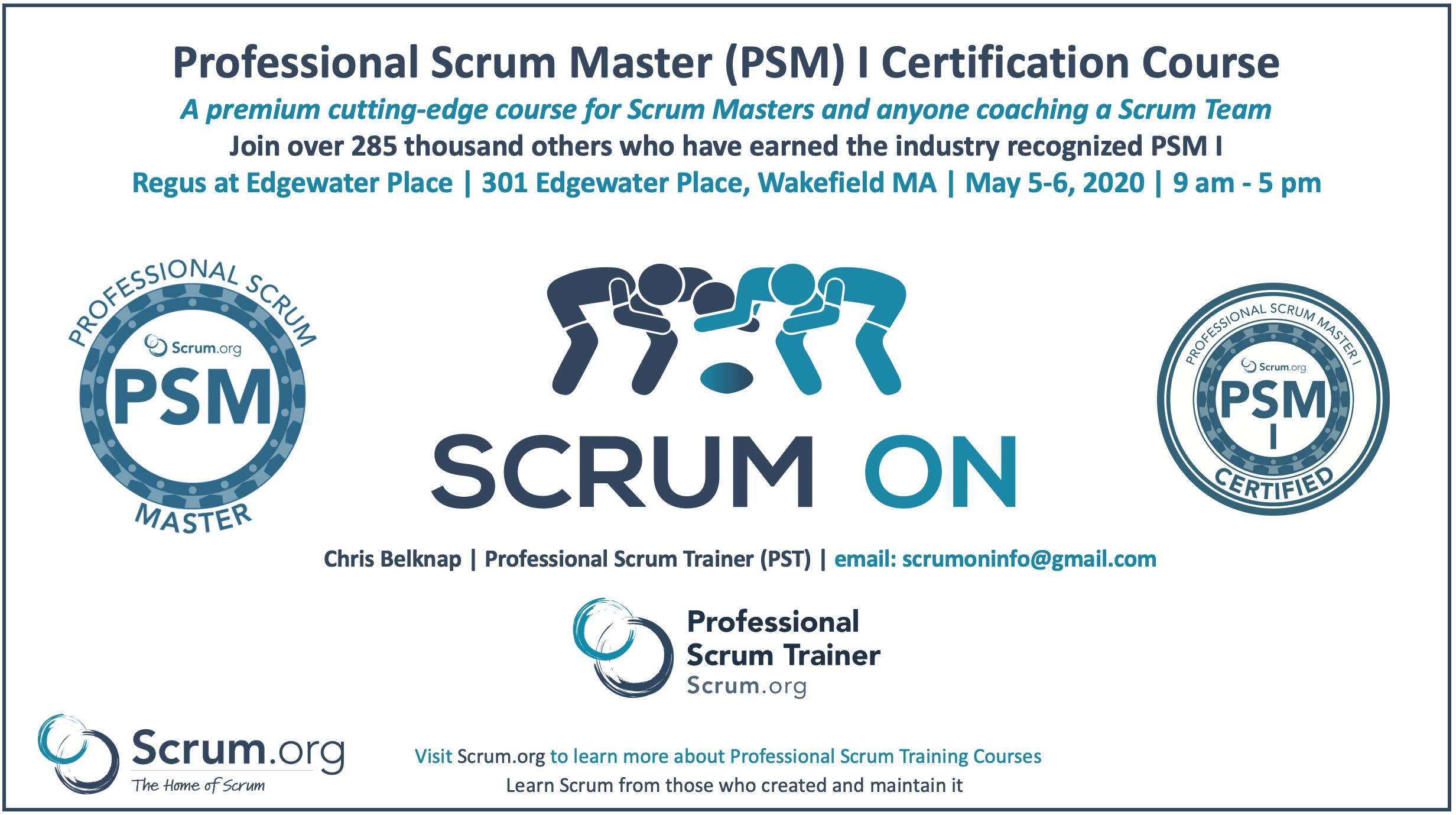 Professional Scrum Master PSM I Training Wakefield MA