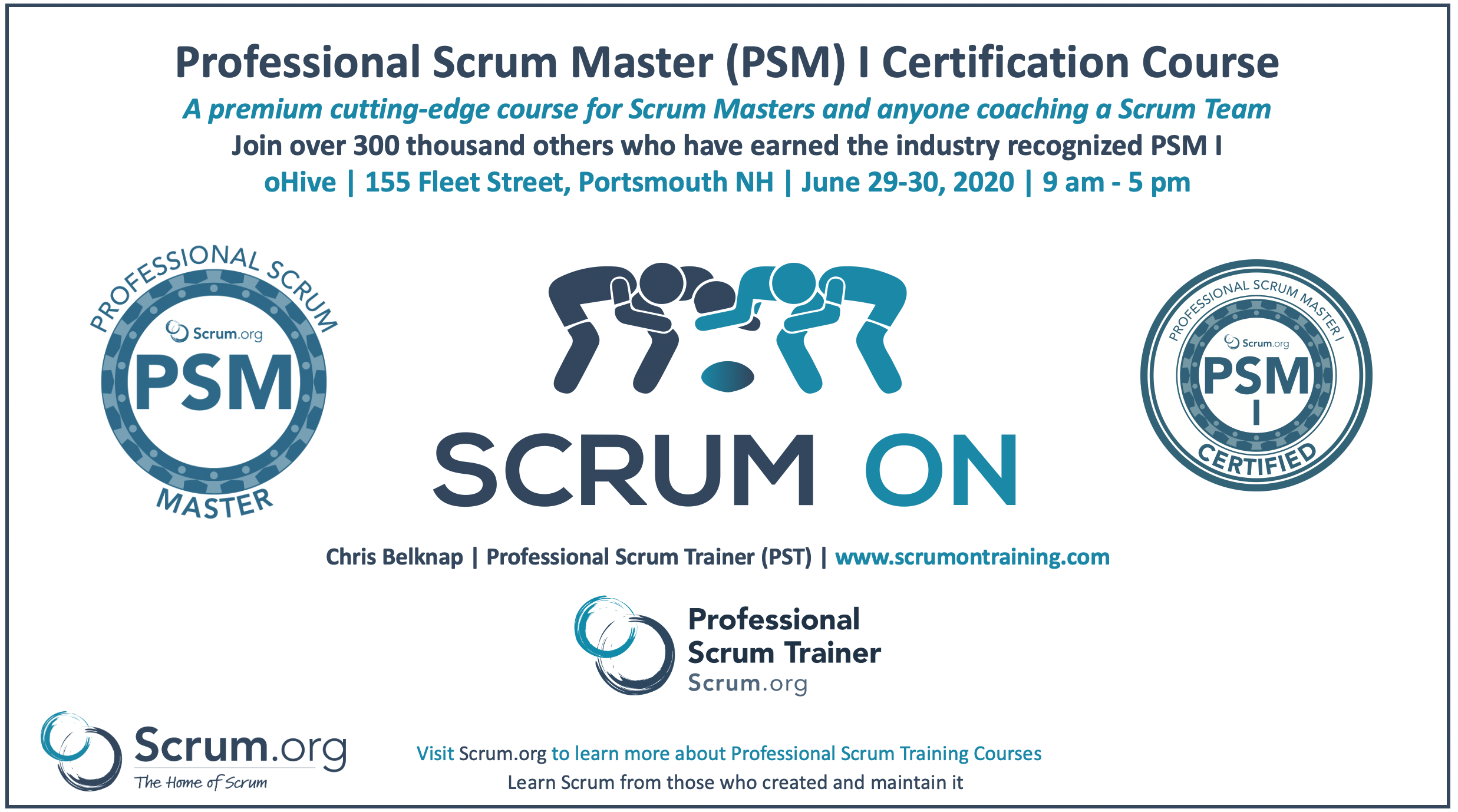 Professional Scrum Master PSM I Portsmouth NH