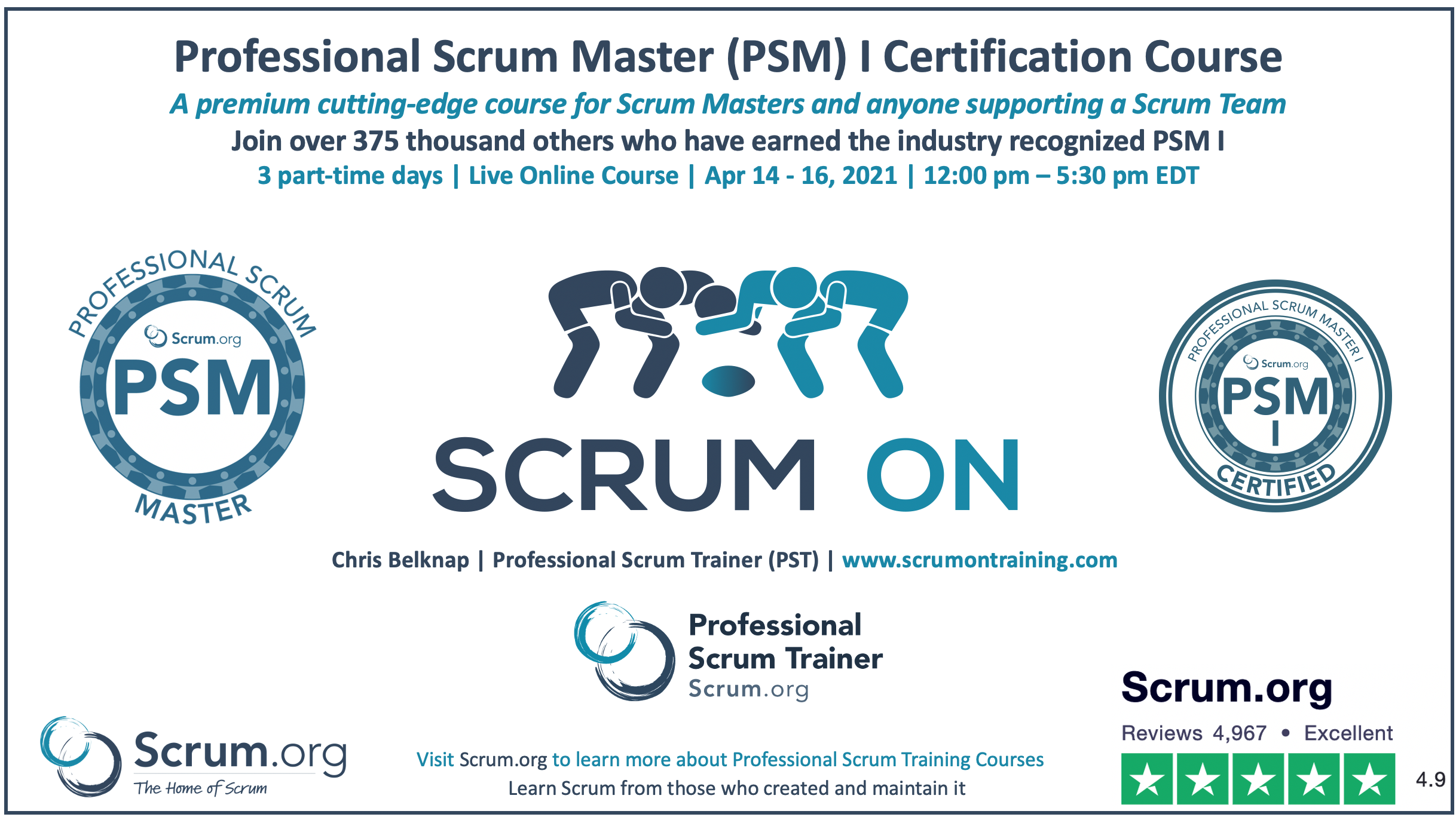 Professional Scrum Master PSM I Course