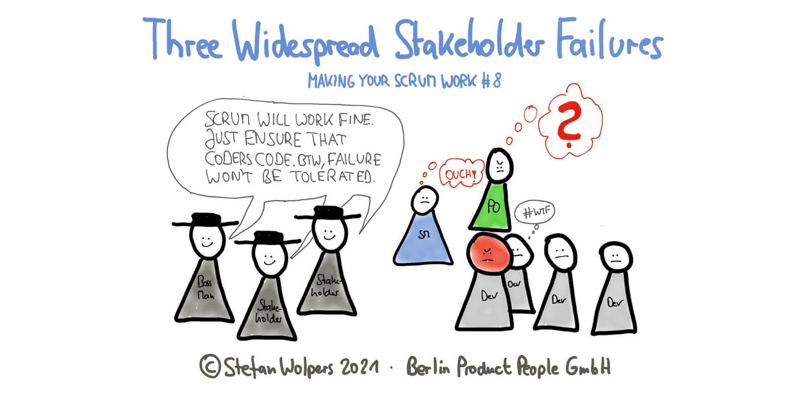 Three Wide-Spread Stakeholder Failures in 6:05 Minutes—Making Your Scrum Work #8