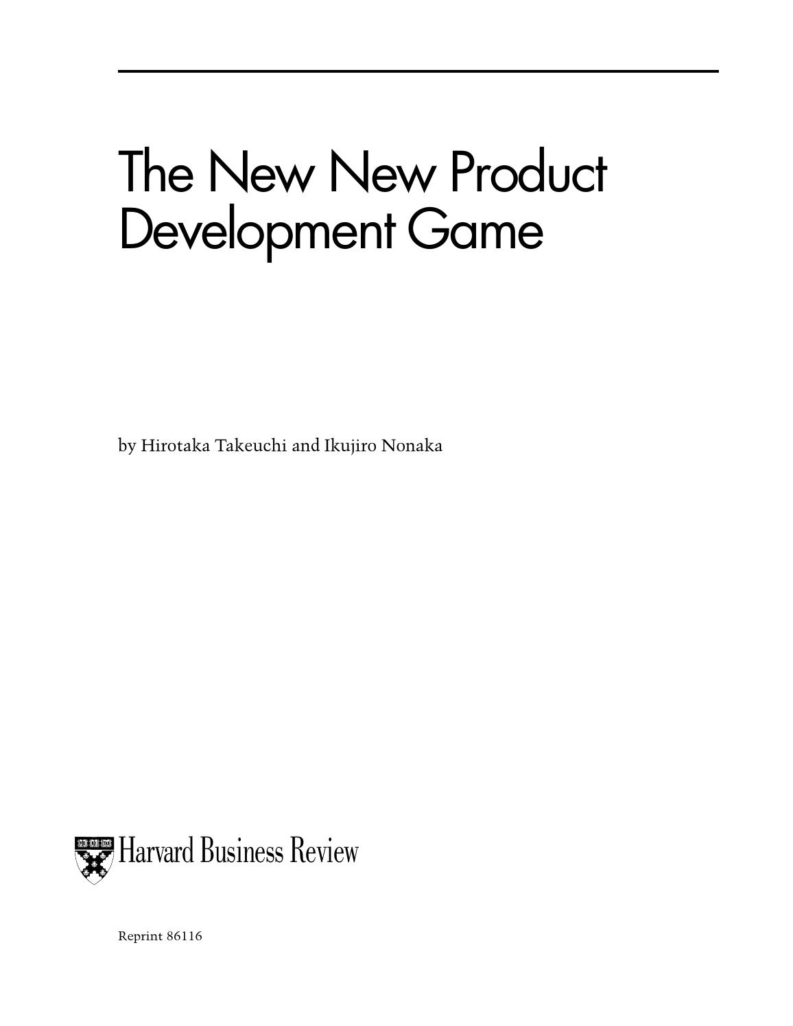 The New New Product Development Game