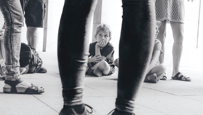 Small Boy Listening