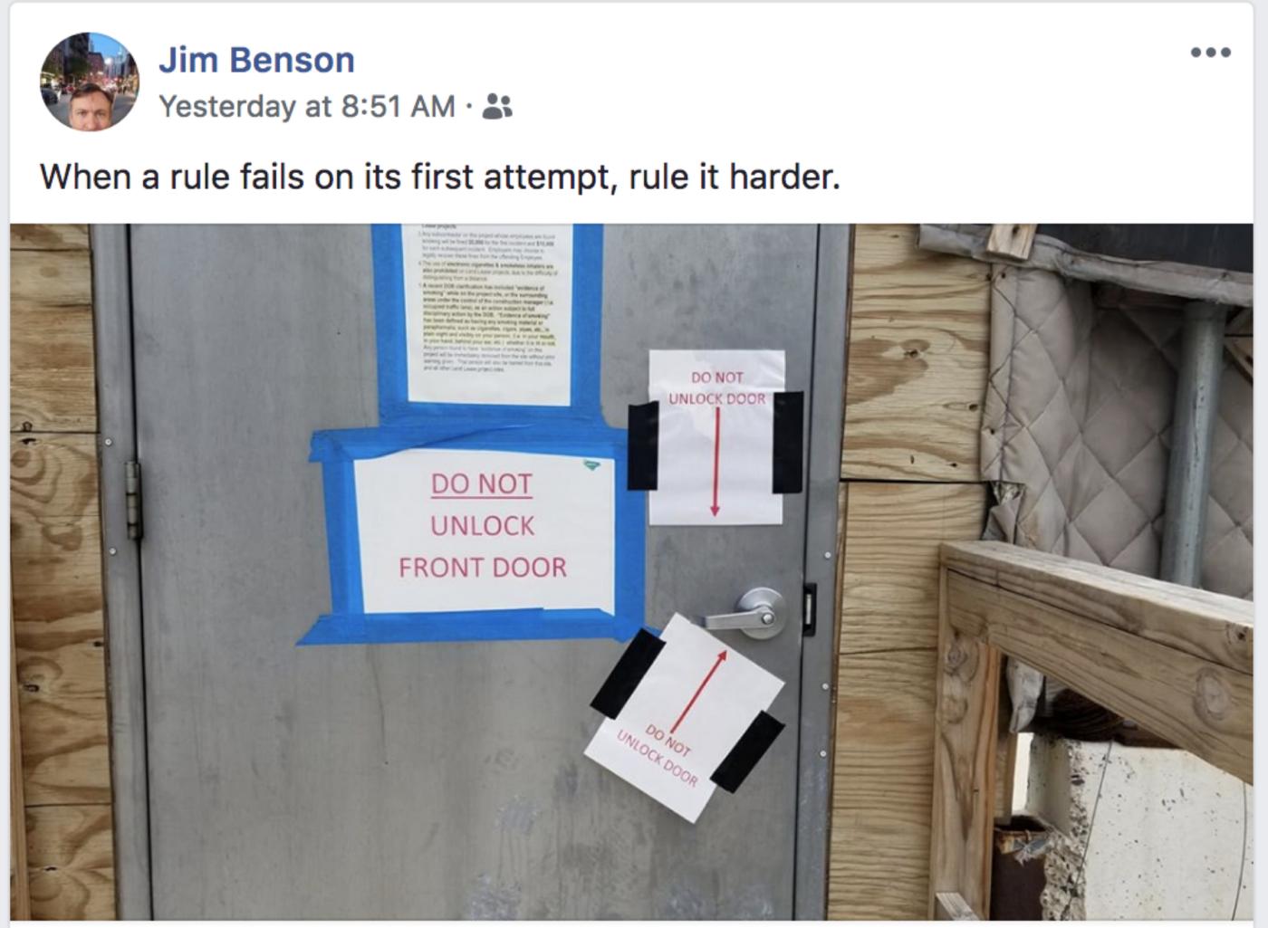 Jim Benson tweet