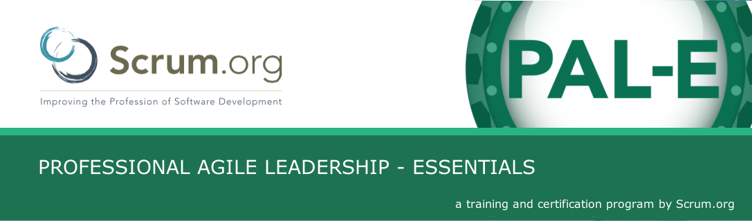 Scrum.org Professional Agile Leadership - Essentials course