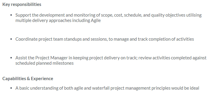 Monitoring scope and cost is part of this job description, where these responsibilities are typically associated with the Product Owner